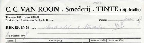 TI_ROON_009 Tinte, Van Roon - C.C. van Roon, Smederij, (1957)