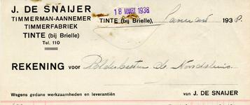 TI_SNAIJER_002 Tinte, De Snaijer - J. de Snaijer, Timmerman - Aannemer. Timmerfabriek, (1938)