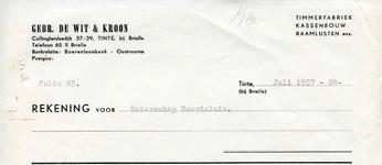 TI_WIT_002 Tinte, De Wit - Gebr. de Wit & Kroon, Timmerfabriek, kassenbouw, raamlijsten enz., (1957)