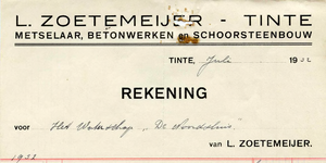 TI_ZOETEMEIJER_003 Tinte, Zoetemeijer - L. Zoetemeijer, Metselaar, betonwerken en schoorsteenbouw, (1932)