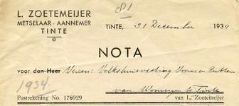 TI_ZOETEMEIJER_004 Tinte, Zoetemeijer - L. Zoetemeijer, Metselaar - Aannemer, (1934)