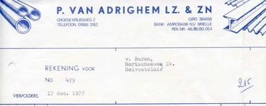 VP_ADRIGHEM_001 Vierpolders, Van Adrighem - P. van Adrighem Lz. & Zn. IJzerhandel, (1977)