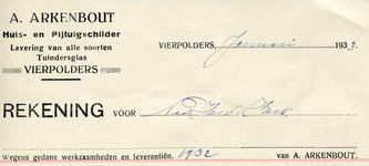 VP_ARKENBOUT_003 Vierpolders, Arkenbout - A. Arkenbout, Huis- en Rijtuigschilder. Levering van alle soorten ...