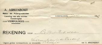 VP_ARKENBOUT_005 Vierpolders, Arkenbout - A. Arkenbout, Huis- en rijtuigschilder. Levering van alle soorten ...