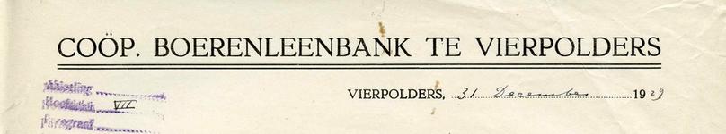VP_BOERENLEENBANK_001 Vierpolders, Boerenleenbank - Coöp. Boerenleenbank , (1929)
