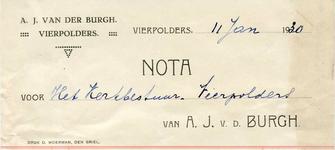VP_BURGH_001 Vierpolders, van der Burgh - A.J. van der Burg, Banketbakkerij, (1930)