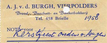 VP_BURGH_002 Vierpolders, van der Burgh - A.J. van der Burg, Brood-, Beschuit- en Banketbakkerij, (1958)