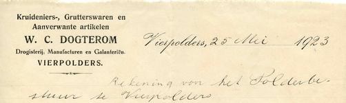VP_DOGTEROM_001 Vierpolders, Dogterom - Kruideniers-, grutterswaren en aanverwante artikelen W.C. Dogterom. ...