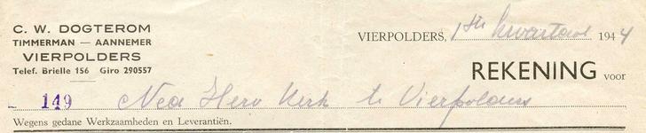 VP_DOGTEROM_002 Vierpolders, Dogterom - C.W. Dogterom, Timmerman - Aannemer, (1944)
