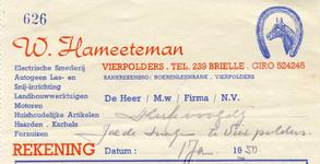 VP_HAMEETEMAN_003 Vierpolders, Hameeteman - W. Hameeteman, electrische smederij, Autogeen las- en snij-inrichting, ...