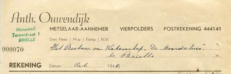 VP_OUWENDIJK_002 Vierpolders, Ouwendijk - Anth. Ouwendijk, Metselaar - Aannemer, (1948)