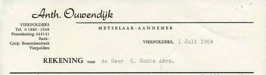 VP_OUWENDIJK_004 Vierpolders, Ouwendijk - Anth. Ouwendijk, Metselaar - Aannemer, (1964)