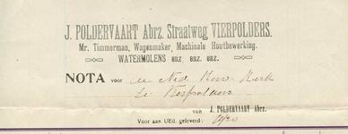 VP_POLDERVAART_001 Vierpolders, Poldervaart - J. Poldervaart Abrz., Mr. Timmerman, wagenmaker, machinale houtbewerking. ...