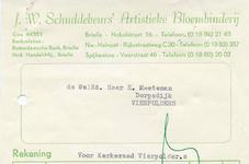 VP_SCHUDDEBEURS_001 Vierpolders, Schuddebeurs - J.W. Schuddebeurs' Artistieke Bloembinderij, (1962)