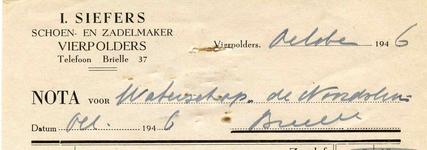VP_SIEFERS_002 Vierpolders, Siefers - I. Siefers, Schoen- en zadelmaker, (1946)