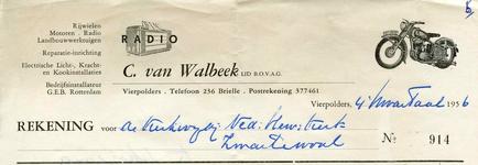 VP_WALBEEK_004 Vierpolders, Van Walbeek - C. van Walbeek, Lid van B.O.V.A.G. Rijwielen, motoren, radio, ...