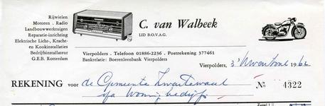 VP_WALBEEK_008 Vierpolders, Van Walbeek - C. van Walbeek, Lid van B.O.V.A.G. Rijwielen, motoren, radio, ...