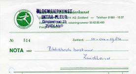 ZL_INTRA-FLEUR_009 Zuidland, Intra Fleur - Bloemsierkunst Intra Fleur, (1984)
