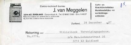 ZL_MEGGELEN_012 Zuidland, Van Meggelen - Elektro-technisch bureau J. van Meggelen. Licht- en krachtinstallaties. ...