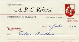 ZL_REHORST_001 Zuidland, Rehorst - Schildersbedrijf A.P.C. Rehorst, schilderwerk 's zomers buiten, 's winters binnen, (1954)