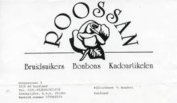 ZL_ROOSSAN_005 Zuidland, Roossan - Roossan, Bruidsuikers, Bonbons, Kadoartikelen, (1998)