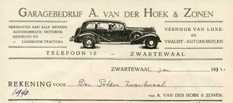 ZW_HOEK_003 Zwartewaal, Van der Hoek - Garagebedrijf A. van der Hoek & Zonen. Reparaties aan alle merken automobielen, ...