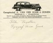 ZW_HOEK_004 Zwartewaal, Van der Hoek - Garagebedrijf A. van der Hoek & Zonen. Reparaties aan alle merken automobielen, ...