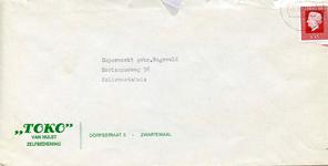 ZW_HULST_001 Zwartewaal, Van Hulst - Toko van Hulst, Zelfbediening (ENVELOPPE), (1973)