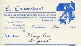 ZW_LANGESTRAAT_001 Zwartewaal, Langestraat - L. Langestraat, Electrische landbouwsmederij en las-inrichting. ...