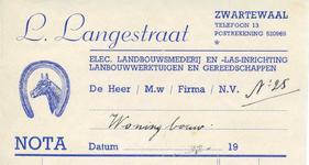 ZW_LANGESTRAAT_002 Zwartewaal, Langestraat - L. Langestraat, Electrische landbouwsmederij en las-inrichting. ...