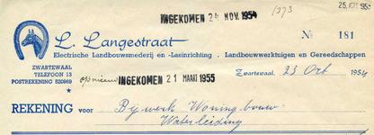 ZW_LANGESTRAAT_005 Zwartewaal, Langestraat - L. Langestraat, Electrische landbouwsmederij en lasinrichting. ...