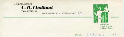 ZW_LINDHOUT_001 Zwartewaal, Lindhout - Schildersbedrijf C.D. Lindhout, (1964)