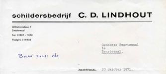 ZW_LINDHOUT_002 Zwartewaal, Lindhout - Schildersbedrijf C.D. Lindhout, (1971)