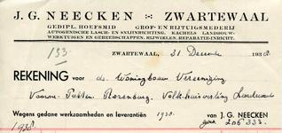 ZW_NEECKEN_004 Zwartewaal, Neecken - J.G. Neecken, Gediplomeerd hoefsmid. Grof- en rijtuigsmederij. Autogenische lasch- ...