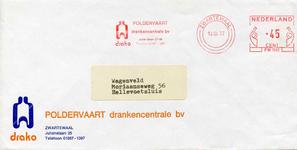 ZW_POLDERVAART_001 Zwartewaal, Poldervaart - Poldervaart, drankencentrale b.v. (ENVELOPPE), (1977)