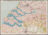 TA_ALG_020 NIVEA TOERISTENKAART VAN ZUID-HOLLAND (zuidelijk deel) - ZEELAND - NOORD-BRABANT (westelijk deel), omstreeks 1960.