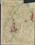 TA_ALG_038 Toeristenkaart voor wandelaars, wielrijders en automobilisten waarop een gedeelte van Voorne - Putten en ...
