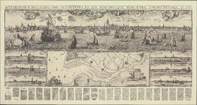 TA_ALG_065 ROTTERODAMUM HOLLANDIAE URBS CELEBERRIMA ET SITU PORTIBUSQUE MERCATURAE OPPORTUNISSIMA Ao 1665, origineel ...