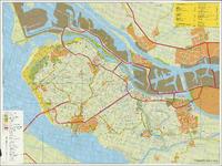 TA_ALG_069 Kleuren plattegrond Voorne-Putten met de Brielse Maas en de Bernisse, niet vermeld, 3e druk.