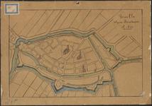 TA_BRIELLE_024 Brielle volgens Boxhorn A.1632, niet vermeld, gekopieerd van een kaart uit 1632.