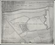 TA_HLVS_049 Kaarte van een gedeelte der aangeleegen Situatie aan de Oost zijde van het Fort Hellevoetsluys; waar op ...