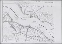 TA_RIV_066 Kaart van een gedeelte van het Haringvliet tuschen Goedereede en het Spui voor de laatste verlenging der ...
