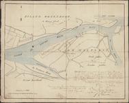 TA_SPIJK_005 Situatie kaart van een gedeelte der rivier de Nieuwe Maas etc., 1843.