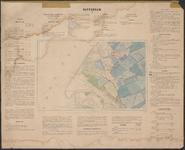 TA_WAT_011 Waterstaatskaart (polderkaart) rond de monding van de Brielse Maas. De kaart is voorzien van een tekst ...