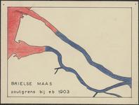 TA_WAT_033 Brielse Maas, zoutgrens bij eb in 1903,