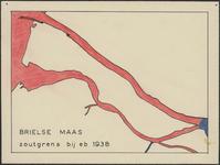 TA_WAT_034 Brielse Maas, zoutgrens bij eb in 1938,