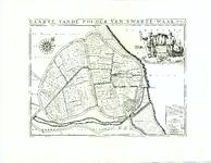 TA_KAARTBOEK1_017 CAARTE VANDE POLDER VAN SWARTE-WAAL 1697, 1697, afdruk 1991.