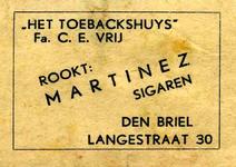 LD2002. Het Toebackshuys - rookt Martinez sigaren.