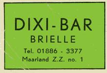 LD2005. Dixi Bar Brielle.