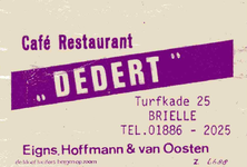 LD2008. Café Restaurant Dedert.